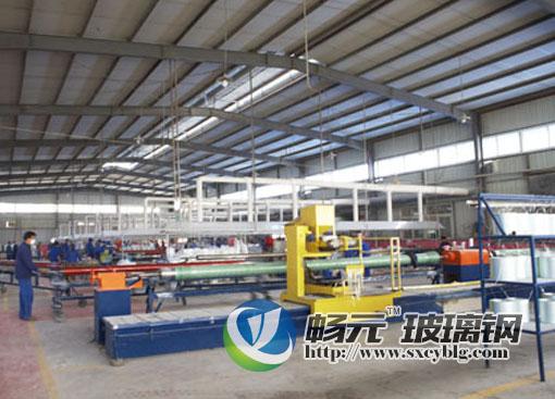 玻璃钢电缆保护管生产制作过程