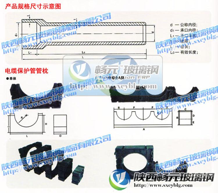 玻璃钢电缆管管枕尺寸